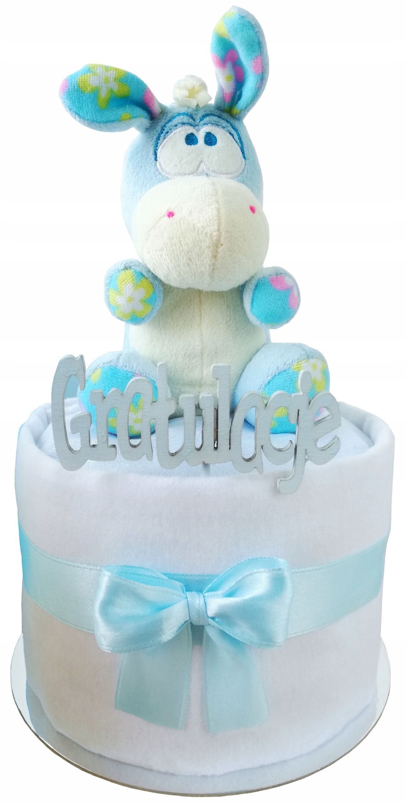 Tort Z Pampersow Prezent Baby Shower Bociankowe In 2020 Baby Shower Diaper Cake Cake