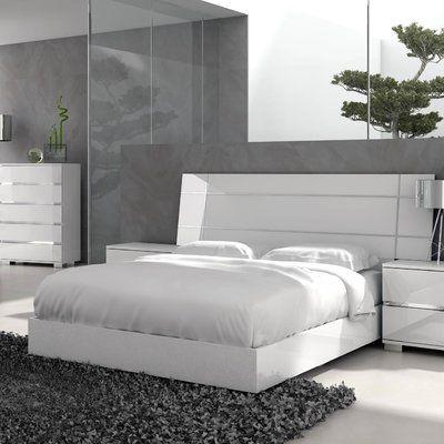 Brayden Studio Salerno California King Platform Bed White Furniture Bedroom Modern Contemporary Bedroom Sets Modern Bedroom Furniture Sets