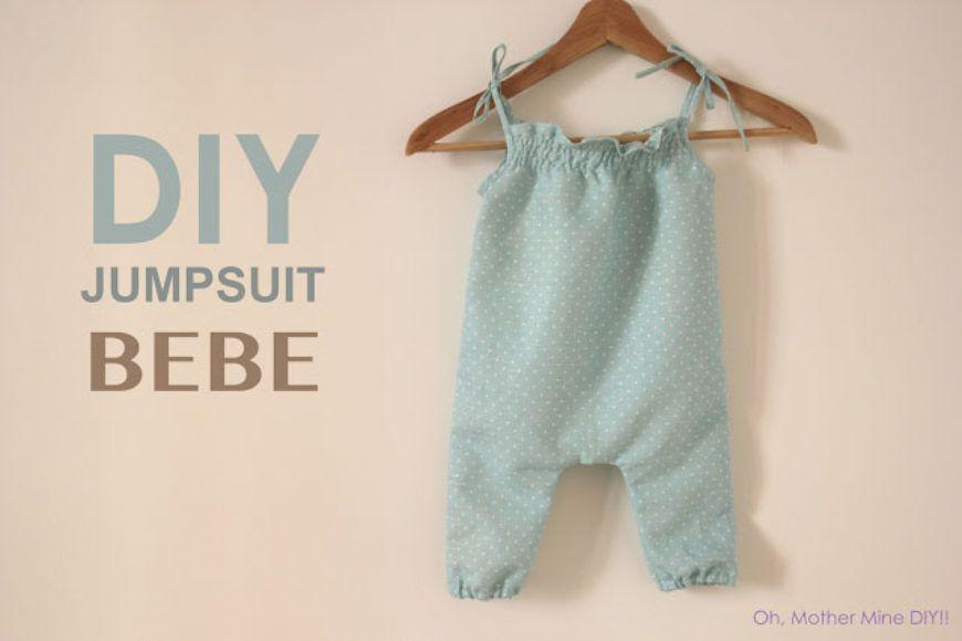 DIY Costura: Jumpsuit bebe (patrones gratis) | roba bebè | Pinterest ...