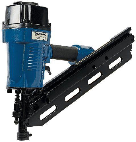 Silverline 282400 Air Framing Nailer 90mm 10 12 Gauge Amazon Co Uk Diy Tools Charpente Porte Galandage Pneumatique