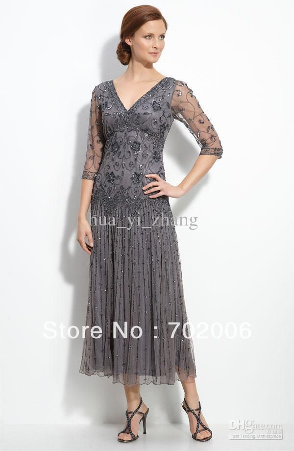 9b579886abbd2 gray tulle tea length dress | Tea Length Gold Dress Promotion-Shop ...