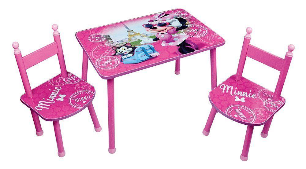 Fun House Disney Minnie Tisch Mit 2 Stühle Für Kinder MDF