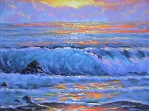 comment peindre un coucher du soleil 1 sur la page cour de On peindre sur de la peinture