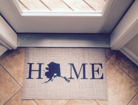 Personalized Door Mat- Monogrammed Doormat- Rugs and Mats- State Mat ...