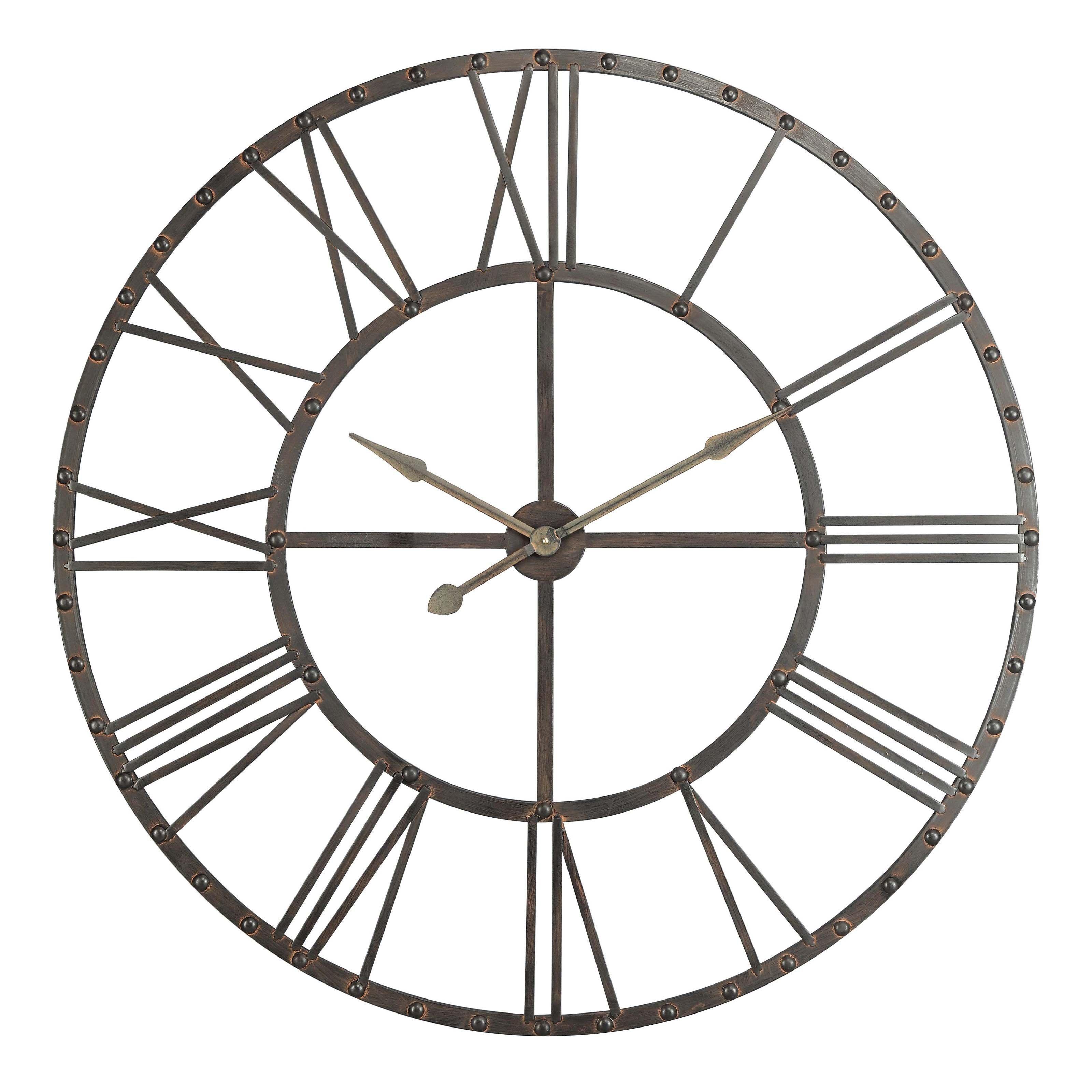 Upton Oversized Wall Clock 44 5 Diam In Www Hayneedle Com Gold Outdoor Clocks