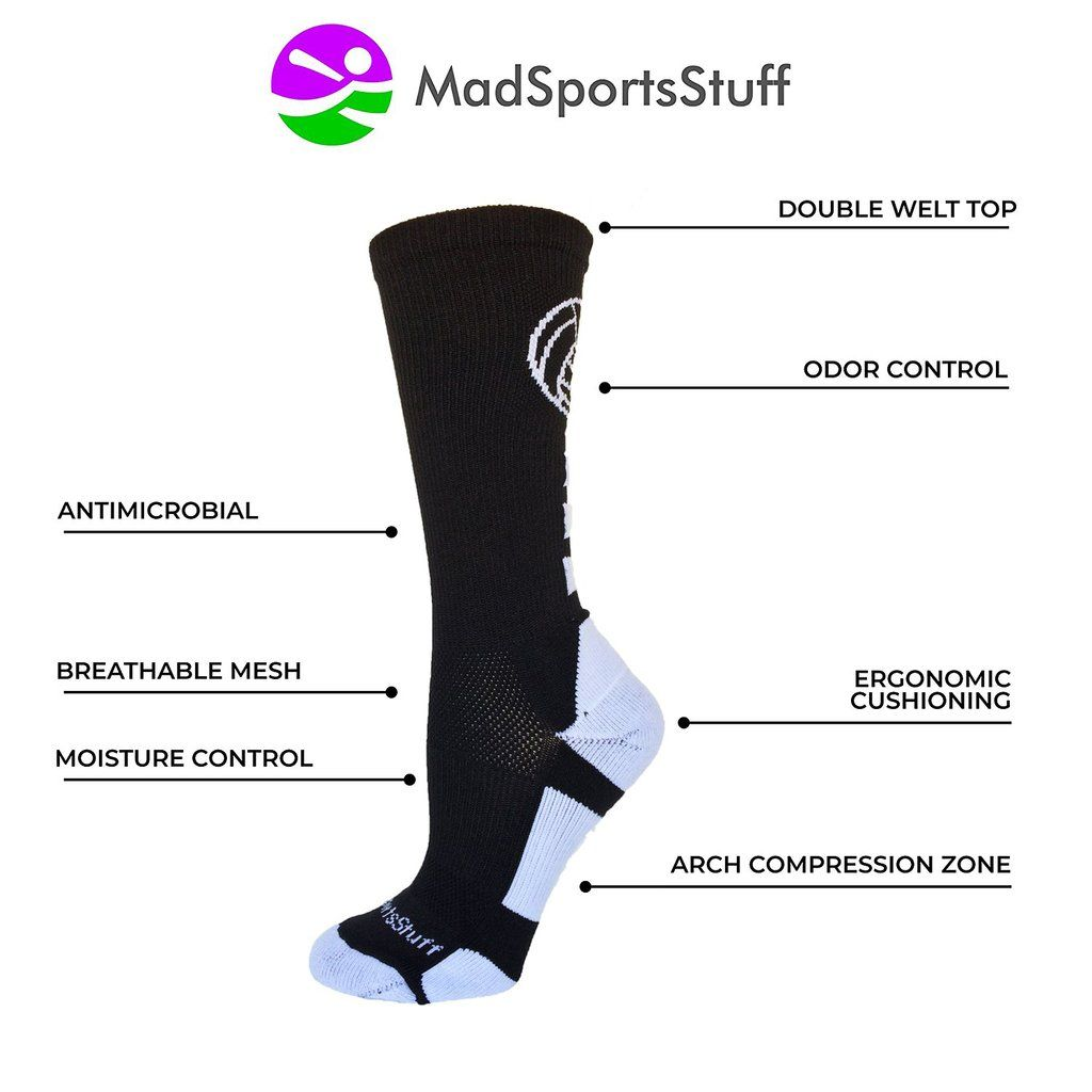 Madsportsstuff Has The Largest Selection Of Girls Volleyball Socks In A Variety Of Fun Patterns Team Colors Volleyball Socks Size 13 Womens Shoes Volleyball