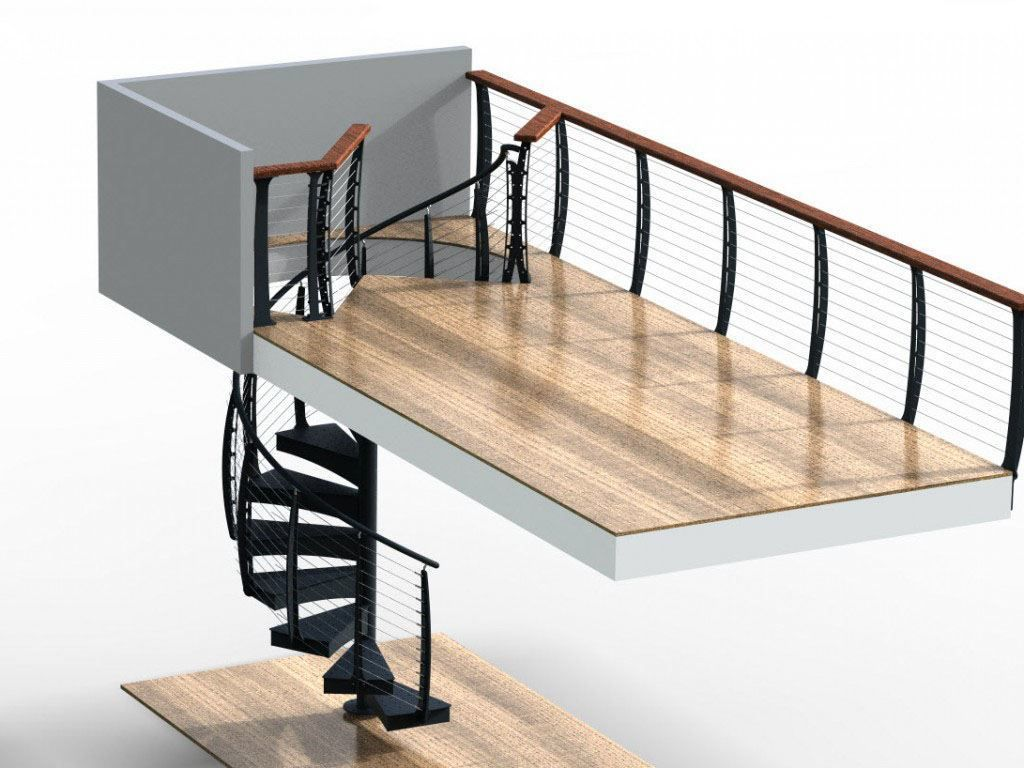 Best Spiral Staircase With Cable Railing Jupiter Fl With 400 x 300