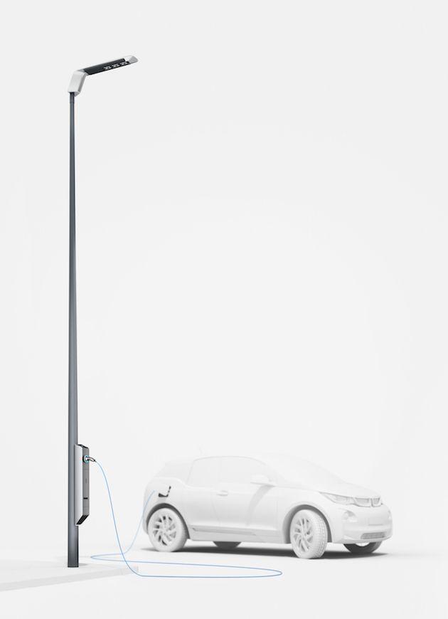 Neue Strassenlampen Von Bmw Sind Elektroauto Ladestationen