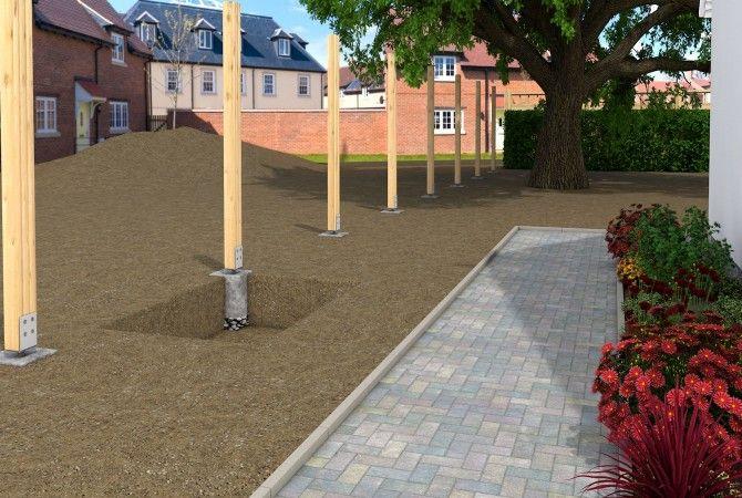 zaun selbst bauen und zaunpfahl betonieren sakret diy projektplaner f r heimwerker. Black Bedroom Furniture Sets. Home Design Ideas