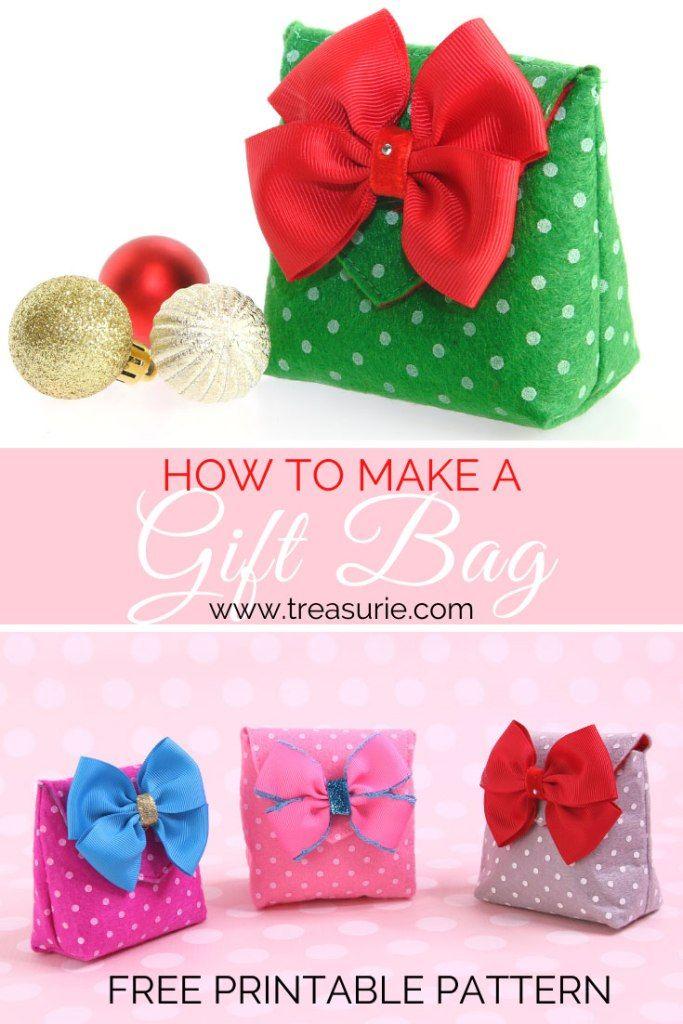 How to Make a Gift Bag - DIY Felt Gift Bag | Felt gifts ...