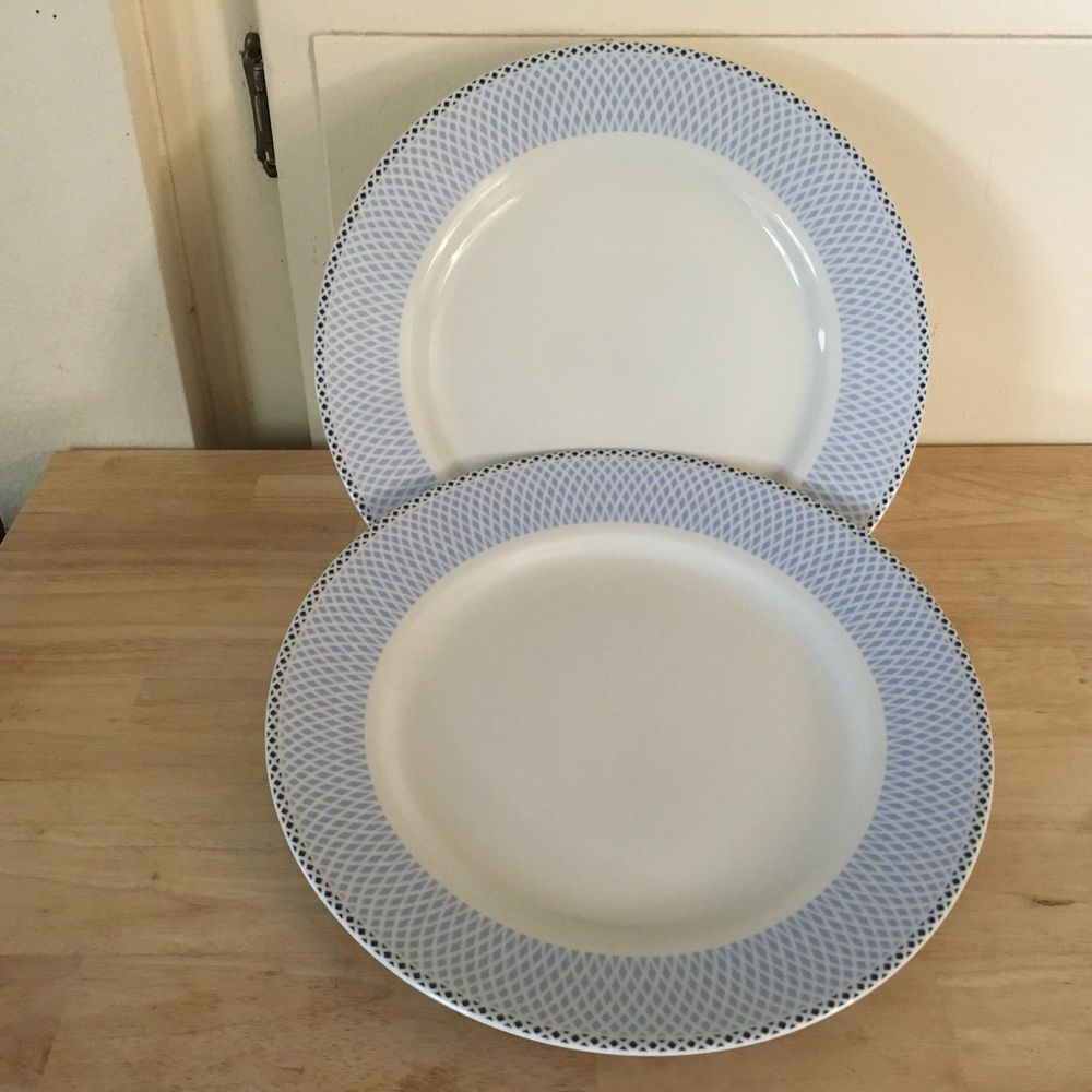 Two (2) Royal Worcester Dinner Plates Azure Pattern New Still have Tag remnants #RoyalWorcester & Two (2) Royal Worcester Dinner Plates Azure Pattern New Still have ...