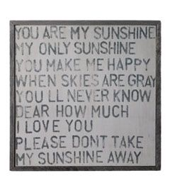 you are my sunshine wall art for kids' room