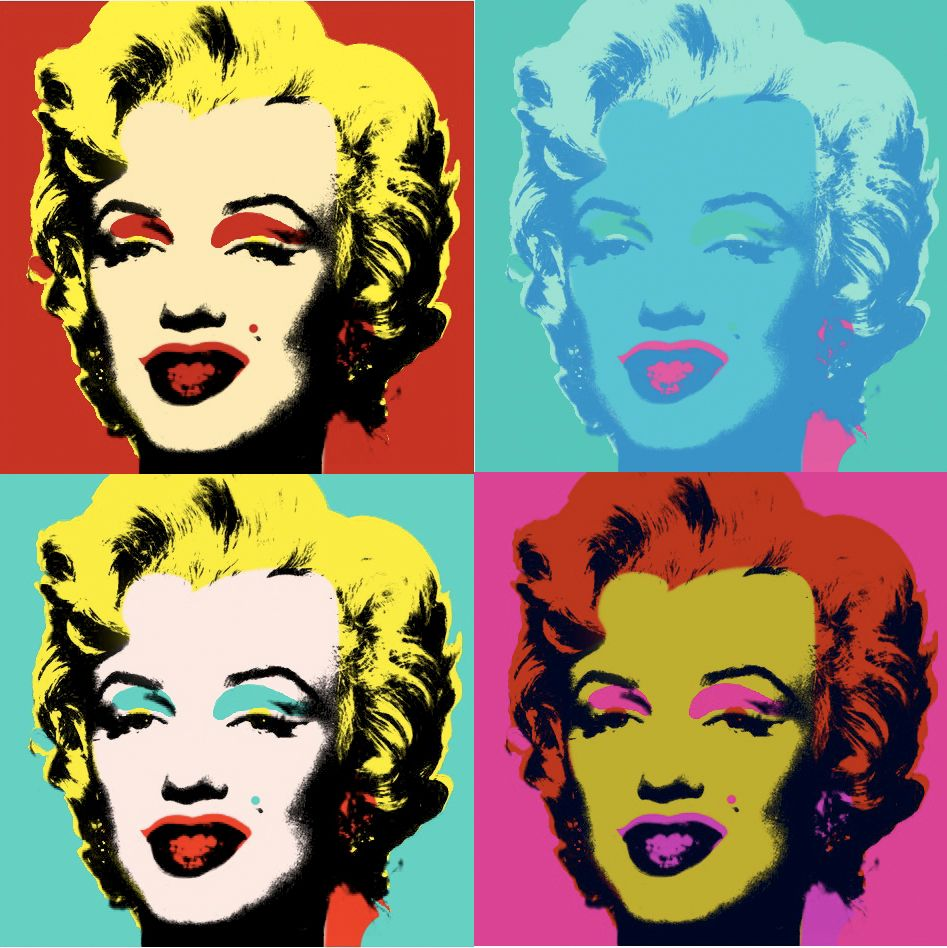 andy warhol most famous art the most famous two paintings of andy warhol are marilyn monroe. Black Bedroom Furniture Sets. Home Design Ideas