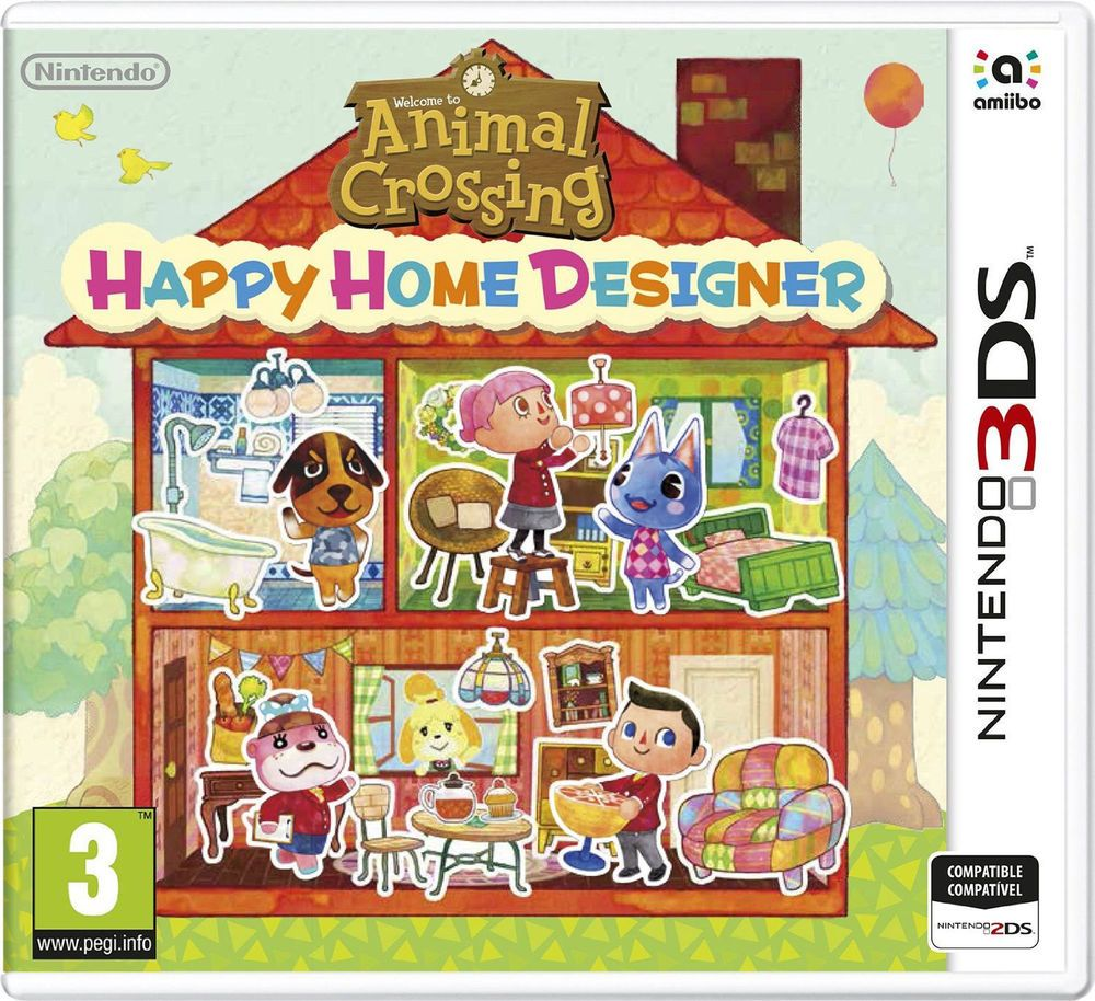 ANIMAL CROSSING HAPPY HOME DESIGNER SIN CARTA 3DS NINTENDO