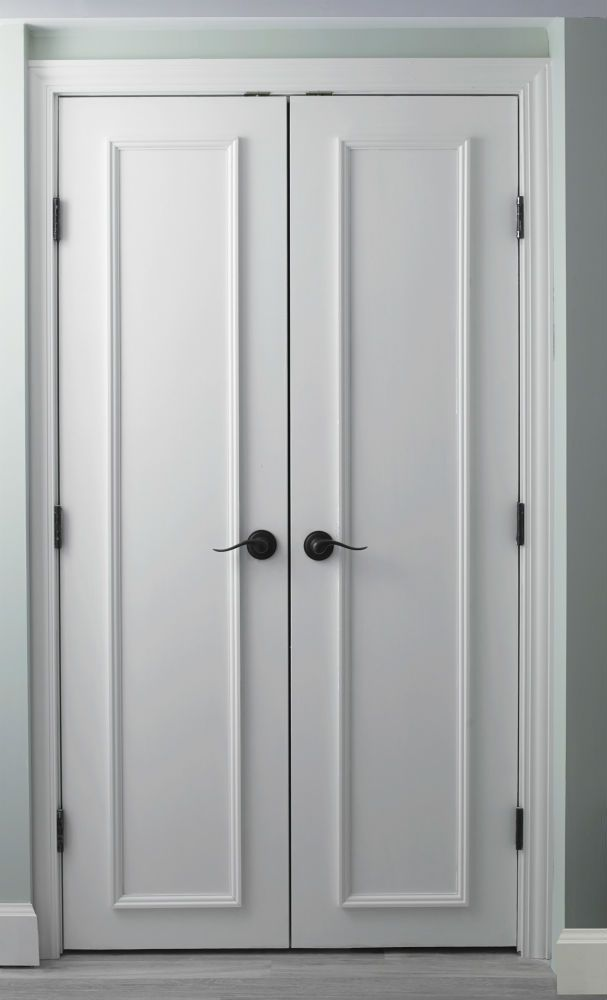 Slab doors with applied moulding gorgeous closet doors for Armoire couloir design