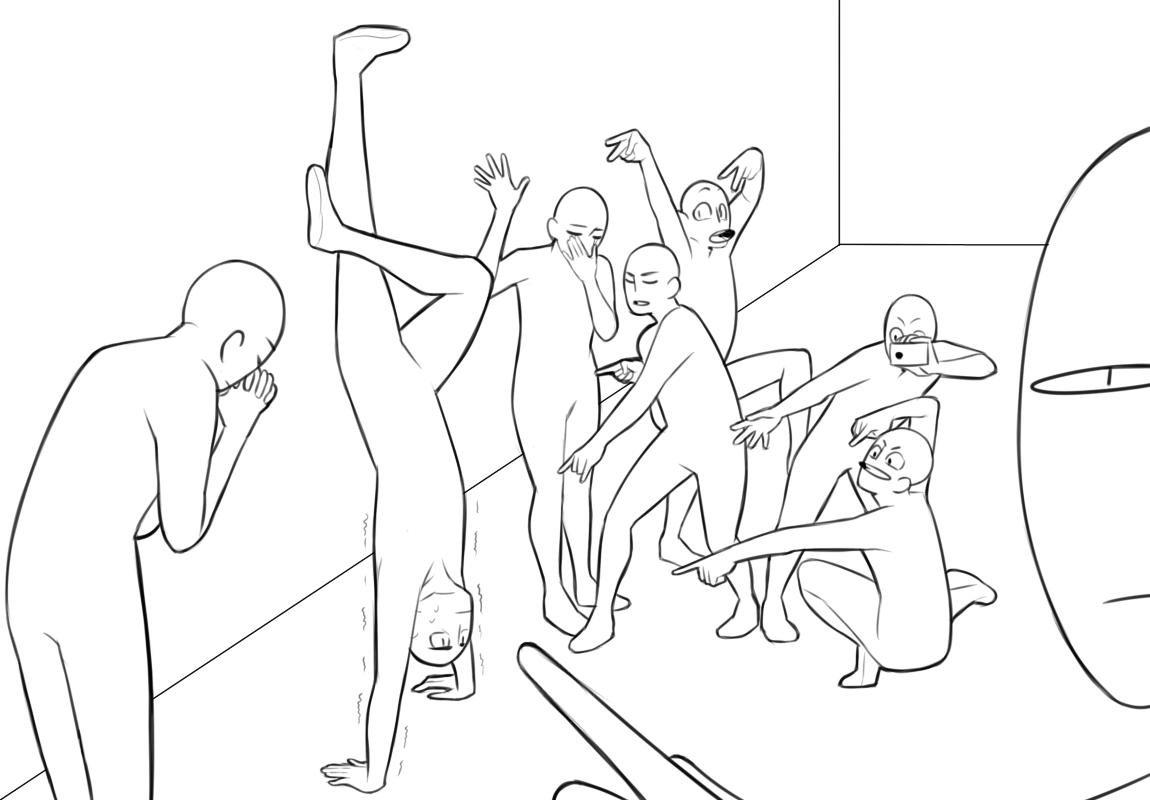 White People Funnydrawing Poses Google Search Cara Menggambar Gambar Proporsi Tubuh Ide Menggambar