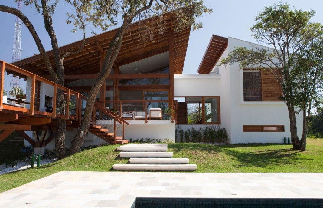 Hermosa fachada de casa de campo moderna #casasminimalistasrusticas - casas minimalistas