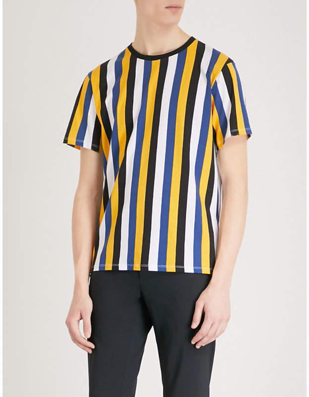 4635e1873 SANDRO Striped cotton-jersey T-shirt