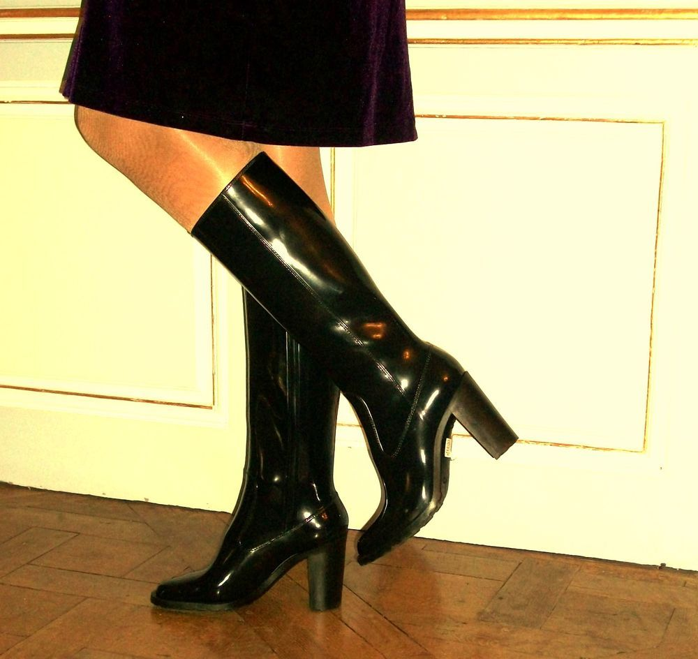 Minelli High heel Damen Gummistiefel mit 10 cm absatz, Gr 38 getragen nur x  2 in Kleidung   Accessoires, Damenschuhe, Stiefel   Stiefeletten   eBay! 8916ece1c1