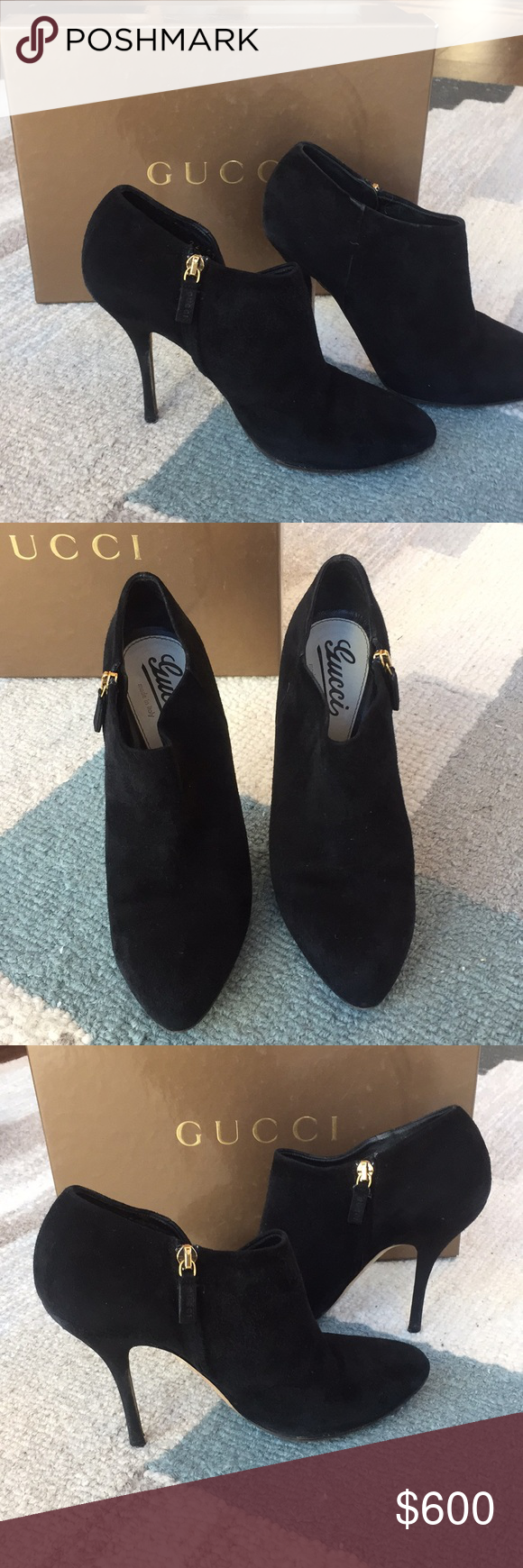 29b89585858fa Gucci suede booties Normal wear. Comes with dust bags