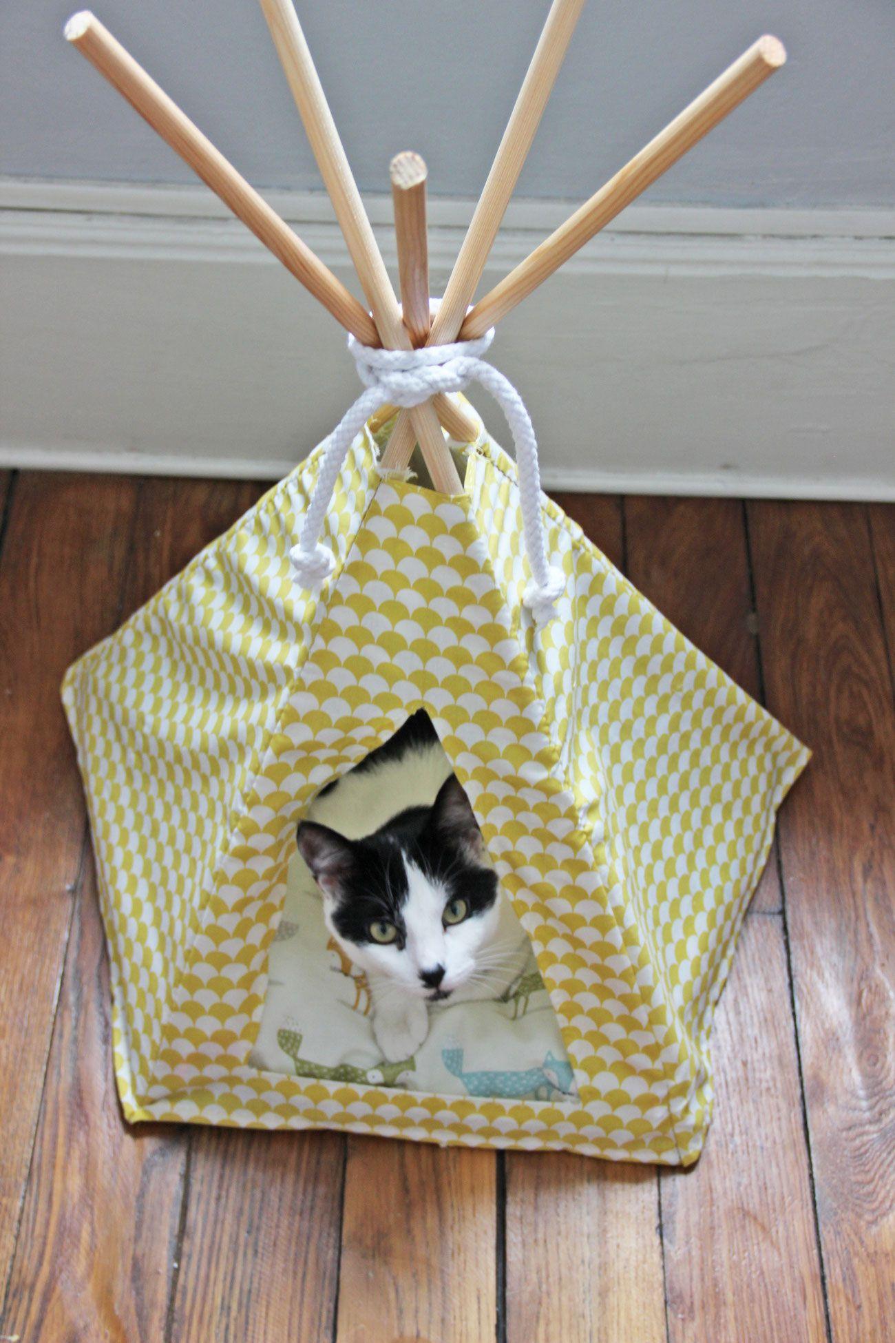 Tipi Pour Chat A Fabriquer diy #6 - un tipi pour mon chat | tipi pour chat, un tipi et