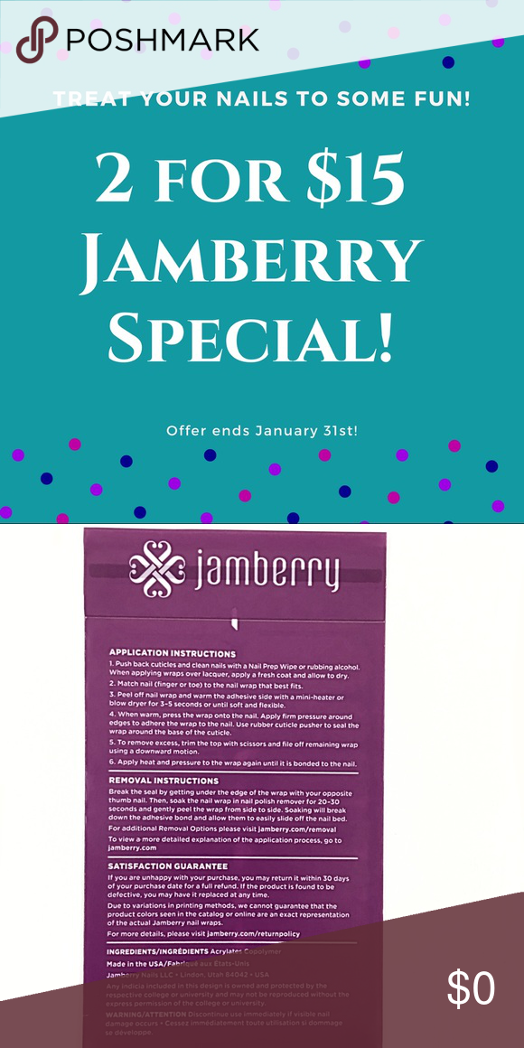 January Jamberry Sale! See Details Below! Through the end of January ...