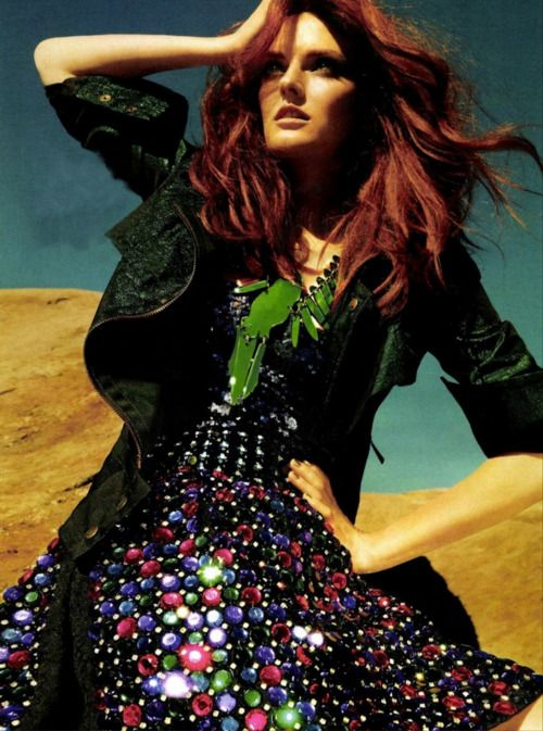 Lydia Hearst by Yu Tsai for Glamour France