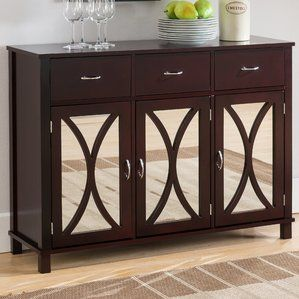 Sidell Wood Door And Drawer Console Table Accent Cabinet