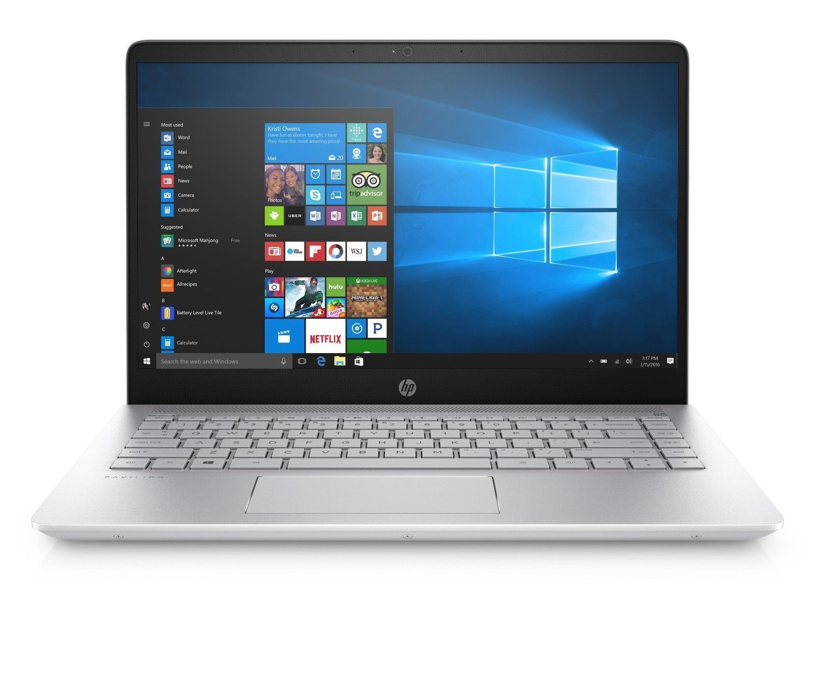 New Hp 15t Laptop I7 8550u 15 6 1080p 8gb Ddr4 1tb Hdd 16gb