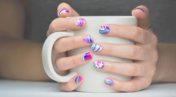 How To Do Water Marble Nails Manicure Amazing Nails And Marble Nails