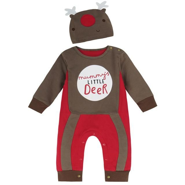 f36af5dcbefb Christmas Baby Boy Girl Clothes Costume Romper Newborn Xmas Party ...