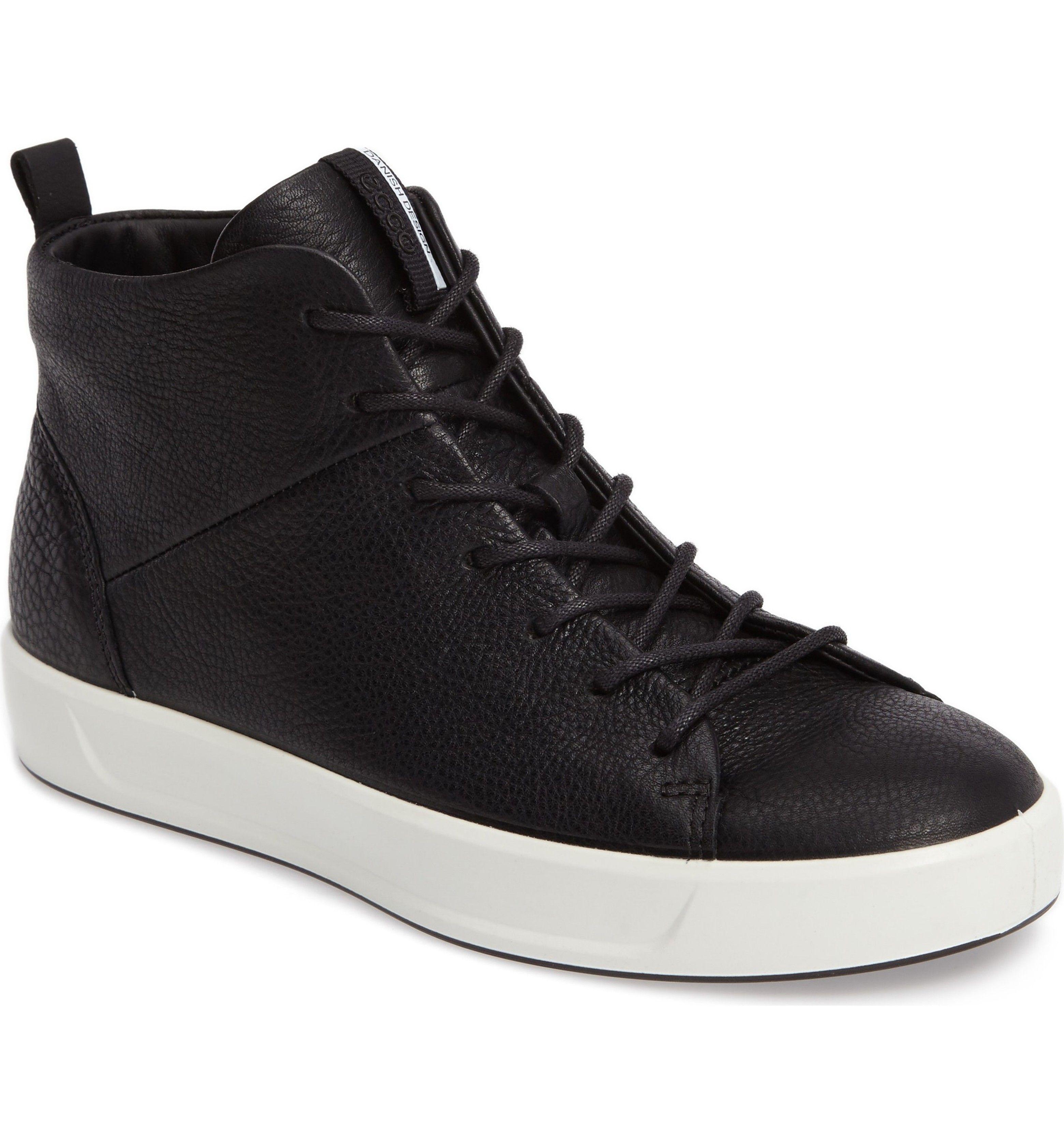 ECCO Soft 8 High Top Sneaker (Women