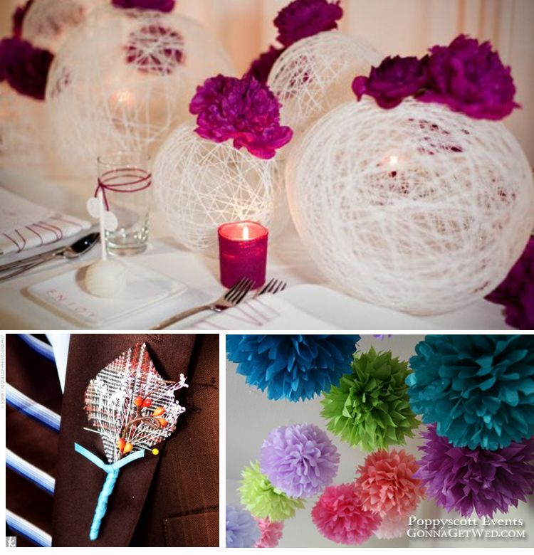 Do It Yourself Wedding Ideas: String+balloon+glue=awesome.....these Would Be Great For