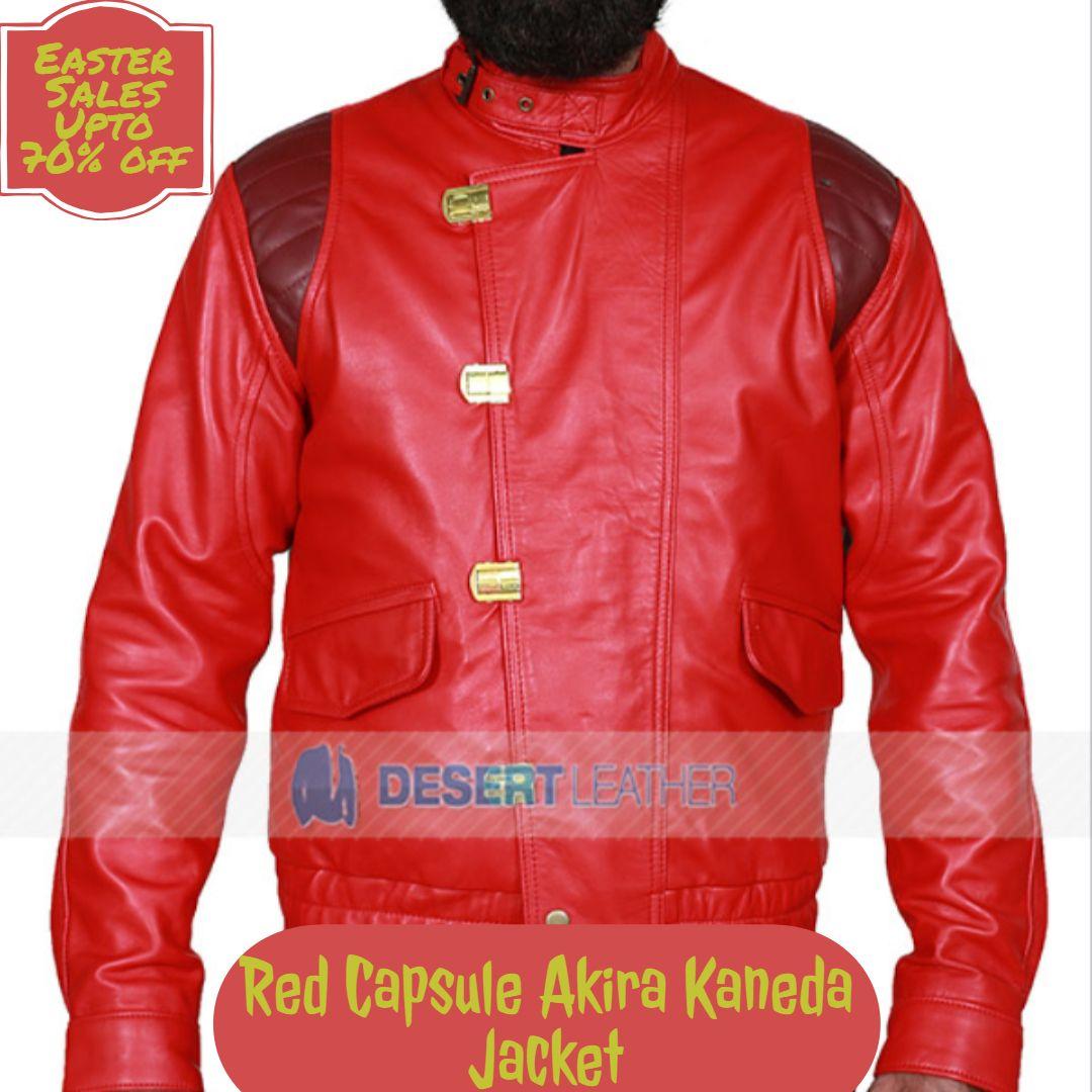 Akira Kaneda Red Capsules Jacket Jackets Leather Jacket Bomber Jacket Men [ 1080 x 1080 Pixel ]