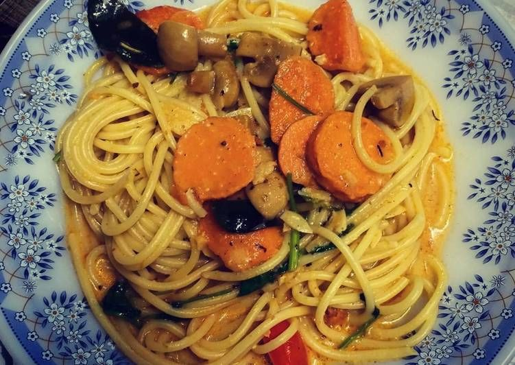 Resepi Olahan Spaghetti Tomyam Berkrim Creamy Tomyam Spaghetti Yang Mudah Aneka Resepi Enak Resep Resep Spaghetti Limau