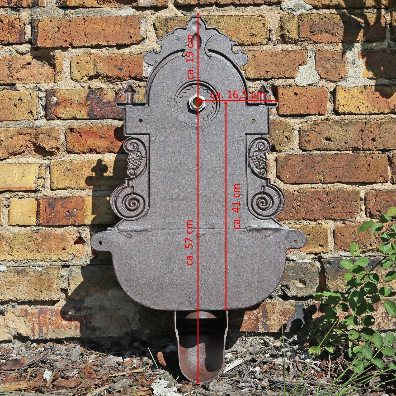 Clgarden Wandbrunnen Wb1 Design Gartenbrunnen Wasserzapfstelle Mit Waschbecken Amazon De Garten Wandbrunnen Wasserzapfstelle Gartenbrunnen