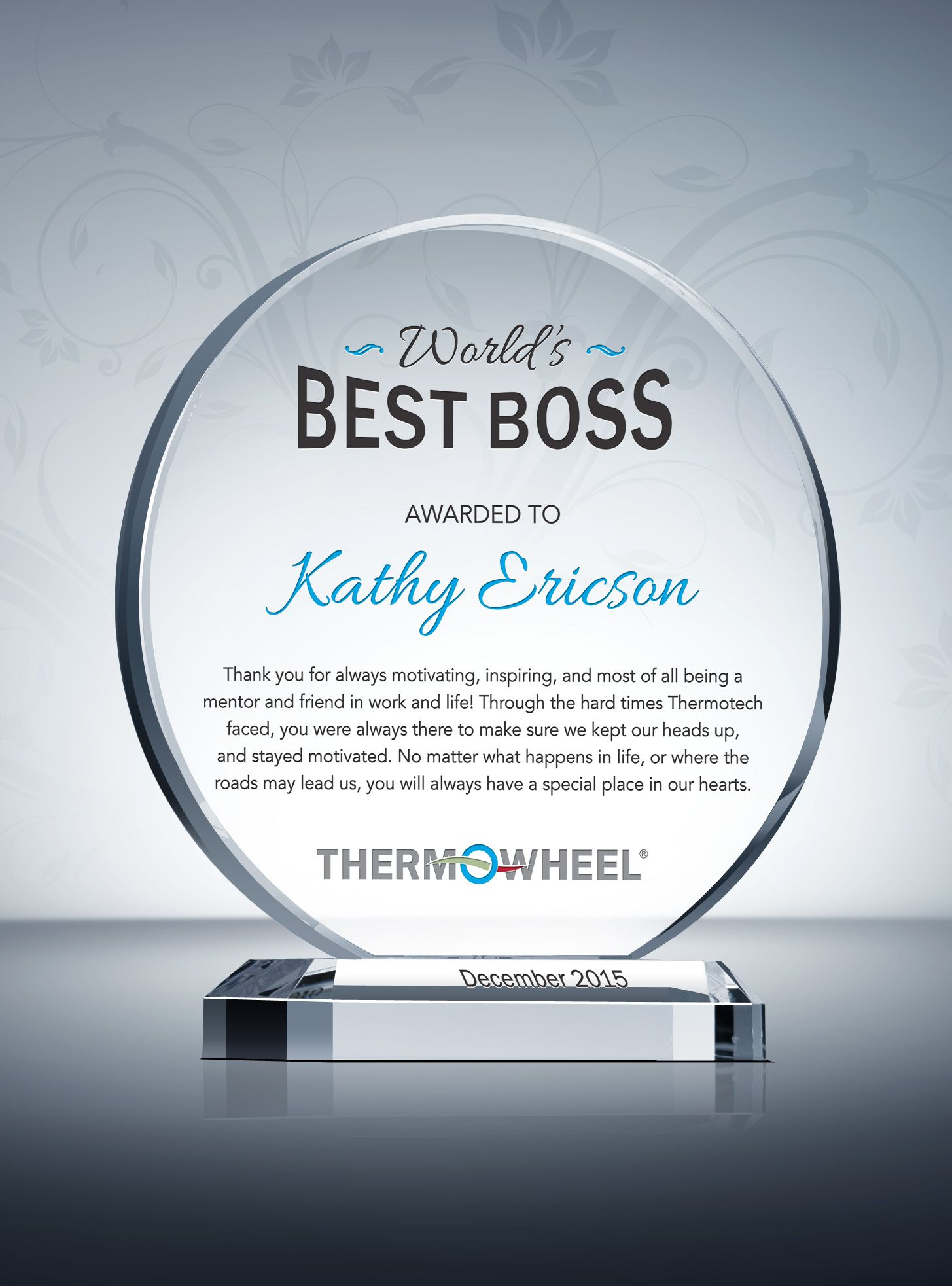 Boss Appreciation Day Gift Appreciation And Thank You Gift Plaques