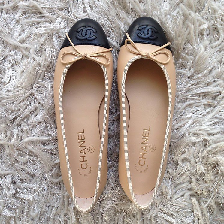 ebff88cd4a4 Chanel signature two tone ballet flats size 36.5 brand new in dust bags the  most sought after Chanel shoe asking  590 comment for more information or to  ...