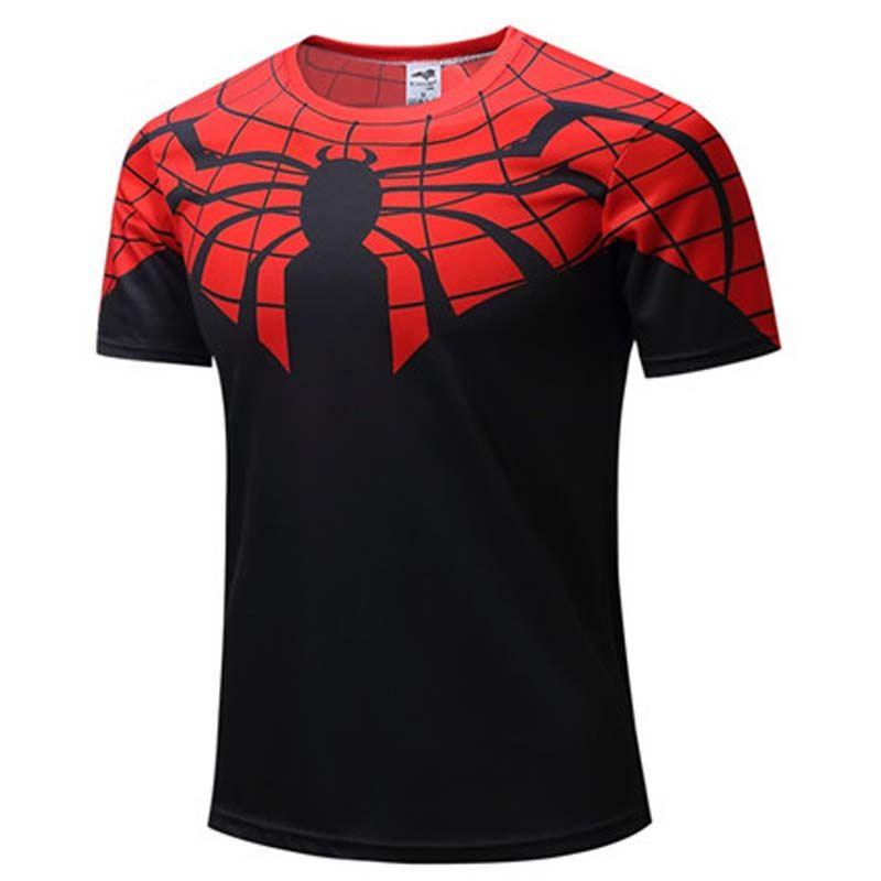 c066e310 Superhero Superman Spiderman Batman Avengers Captain America Ironman Style Clothing  T-shirts Tee M07