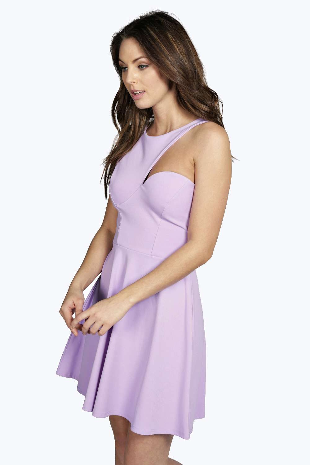 7eed4c1db044 Maisie Cutaway Neckline Skater Dress at boohoo.com | Clothes ...