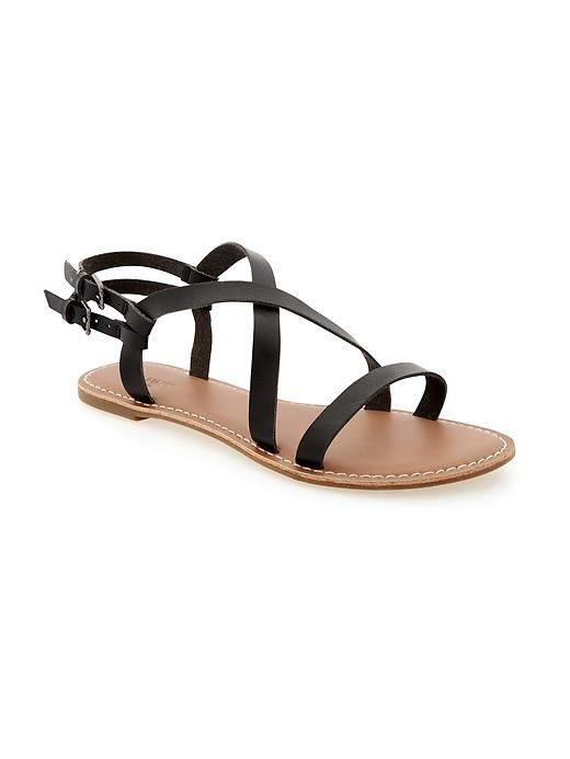 909d9b8bed3 Faux-Leather Double Buckle Strap Sandals for Women