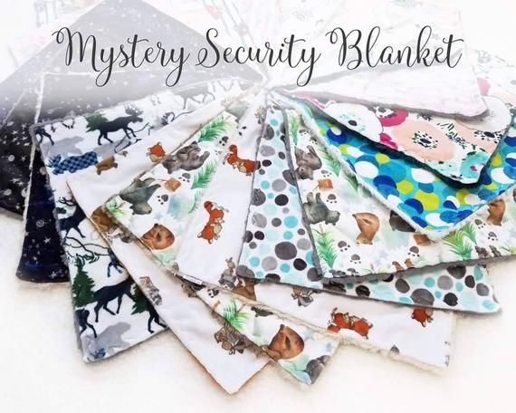 Mystery Security Blanket, Lovey for Baby, Minky Lovies, Baby Shower Gift, New Baby Gift, Baby Comfor #securityblankets