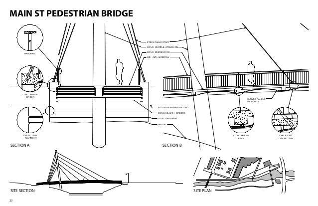walking bridge detail drawings