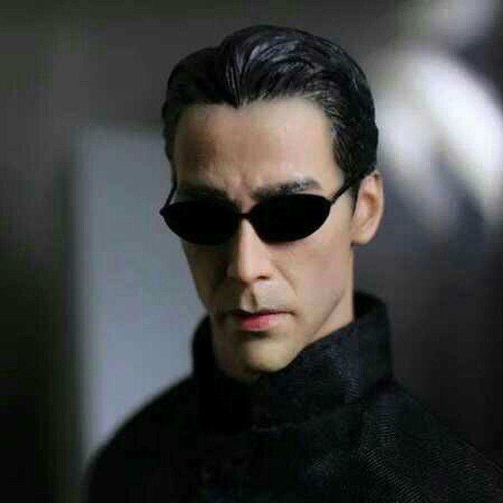 16 Scale The Matrix Keanu Reeves Neo Head Sculpt Wsunglasses For