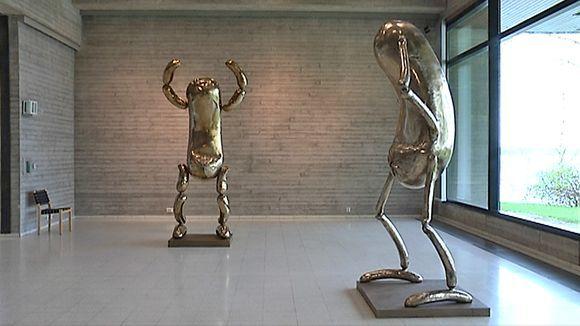Erwin Wurmin teoksia Sara Hildénin taidemuseossa Tampereella