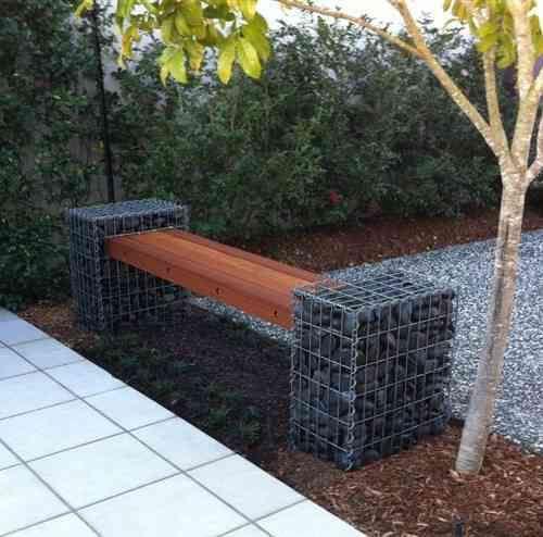 Gabion Bench Seat Defined Style (4) Garden Pinterest Bancos