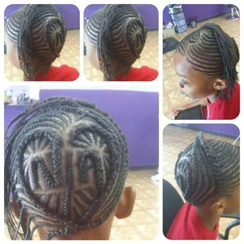 Oh what skills! Heart cornrow design with letters | Heart ...