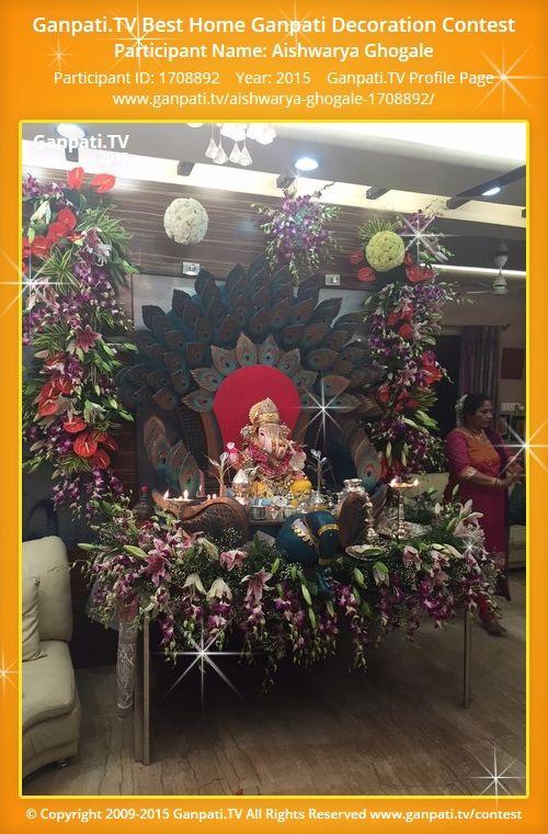 Aishwarya Ghogale Home Ganpati Picture 2015 View