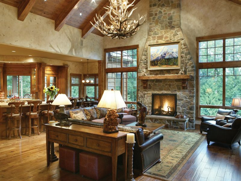 Cliffwood trail lodge home home plans with great rooms for Www houseplansandmore com