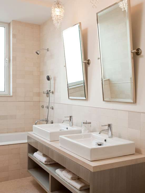 Website With Photo Gallery Suzie Darci Hether Chic bathroom for two with twin rectangular pivot mirrors twin crystal